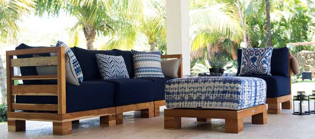 The Sunset Collection, Constructed Of Solid Teak With Textile Cushions